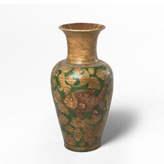 """23.5""""h Brown Vase ACC013546"""