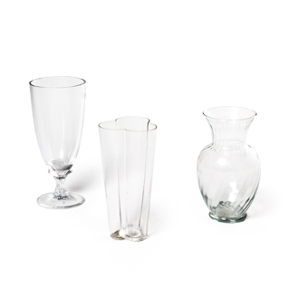"11""h - 13""h Glass Vase Set"