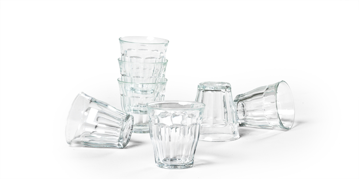 """3""""h Glass Cups Set ACC013552"""