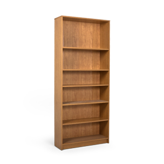 "36""w x 84""h Medium Oak Laminate Bookcase BKC013361"