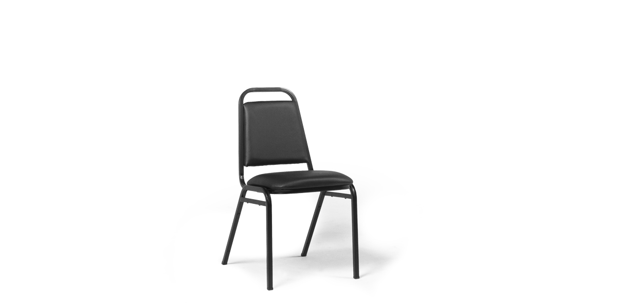Black Vinyl Stack Chair CHR013507
