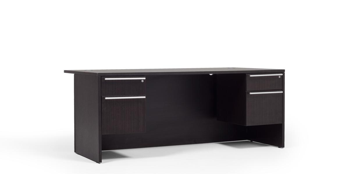 "72""w x 36""d Dark Espresso Laminate Desk DSK013256"