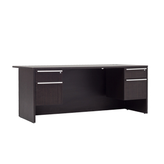 "72""w x 36""d Dark Espresso Laminate Desk DSK013256"