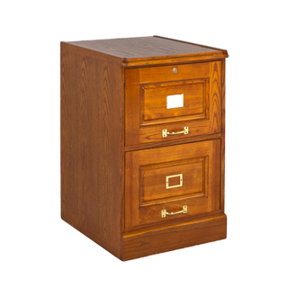 "18.75""w x 21.75""d Medium Oak Vertical File FIL010023"