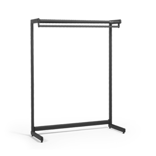 48''w x 62''h Black Steel Garment Rack MIS012345