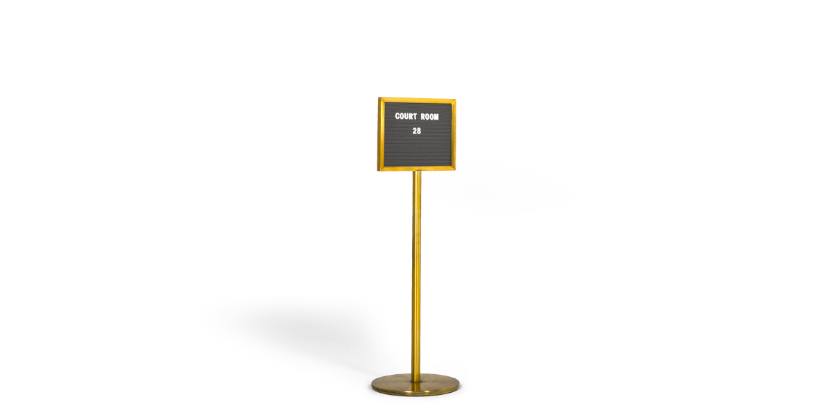 "48""h Satin Brass Sign Stanchion MIS013364"