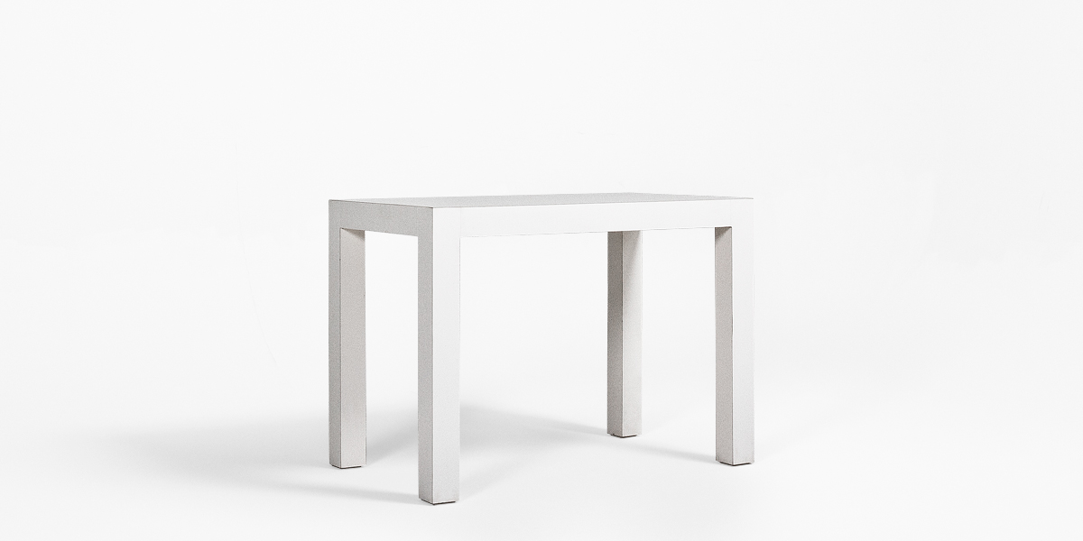 "40""w x 24""d White Laminate Table Desk TBL007051"