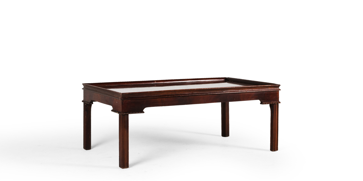"44""w x 26""d Medium Mahogany Chippendale Coffee Table TBL007786"