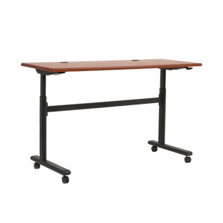 "60""w x 24""d Medium Cherry Adjustable Folding Table TBL013531"