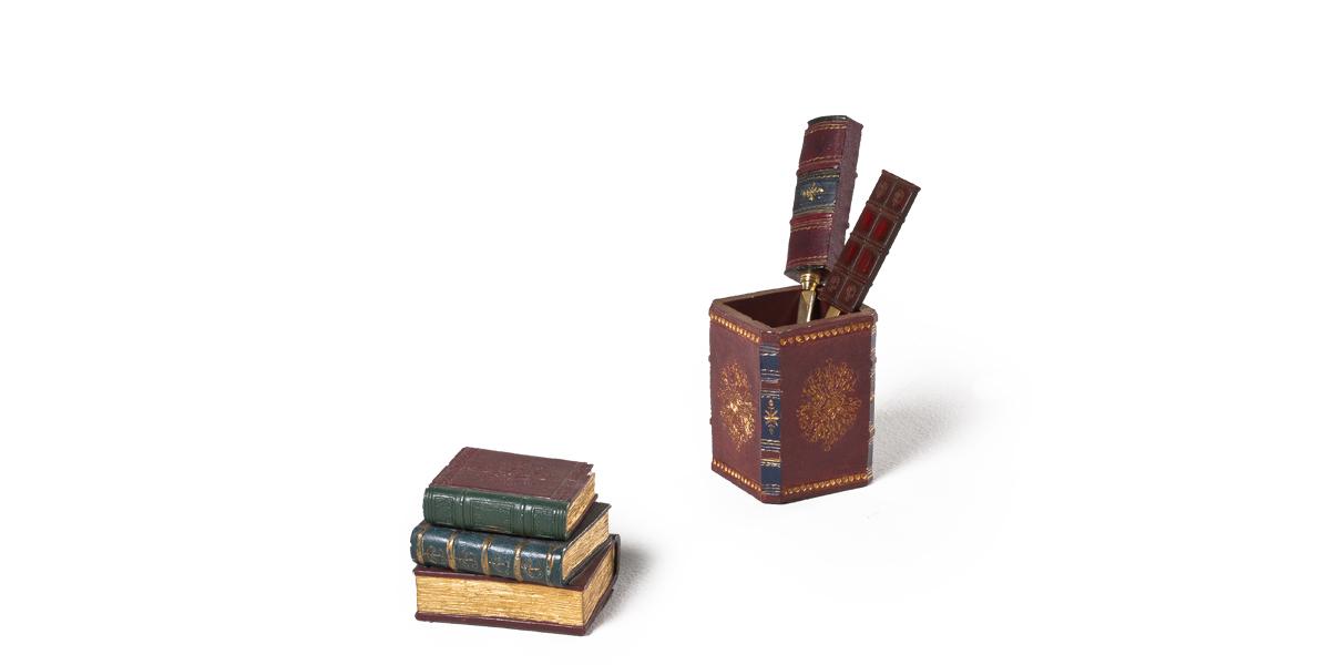 Burgundy Desk Accessories Set