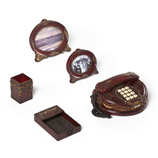 Burgundy Desk Accessories Set