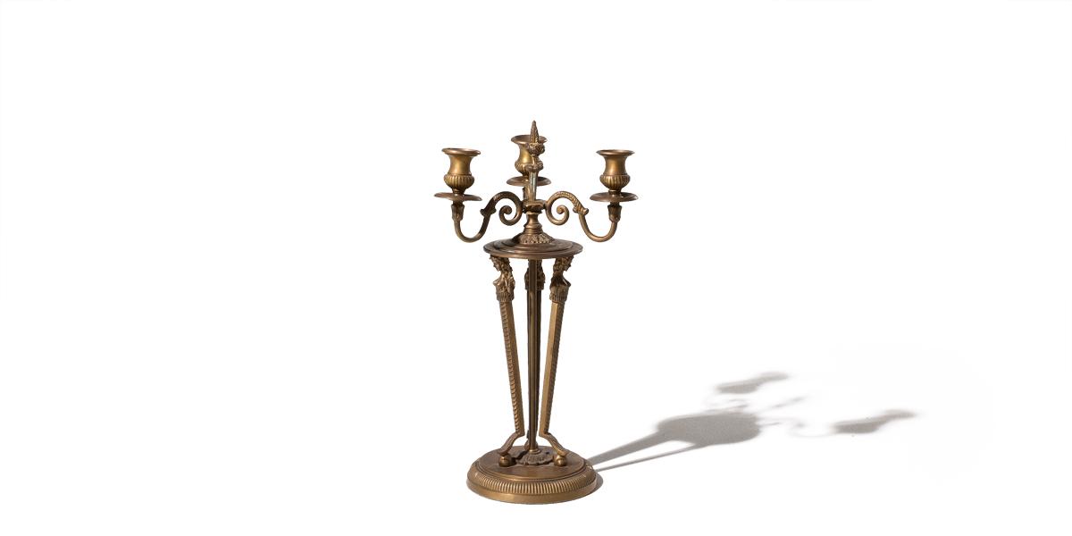 "20""h Bronze Candleholder ACC001215"