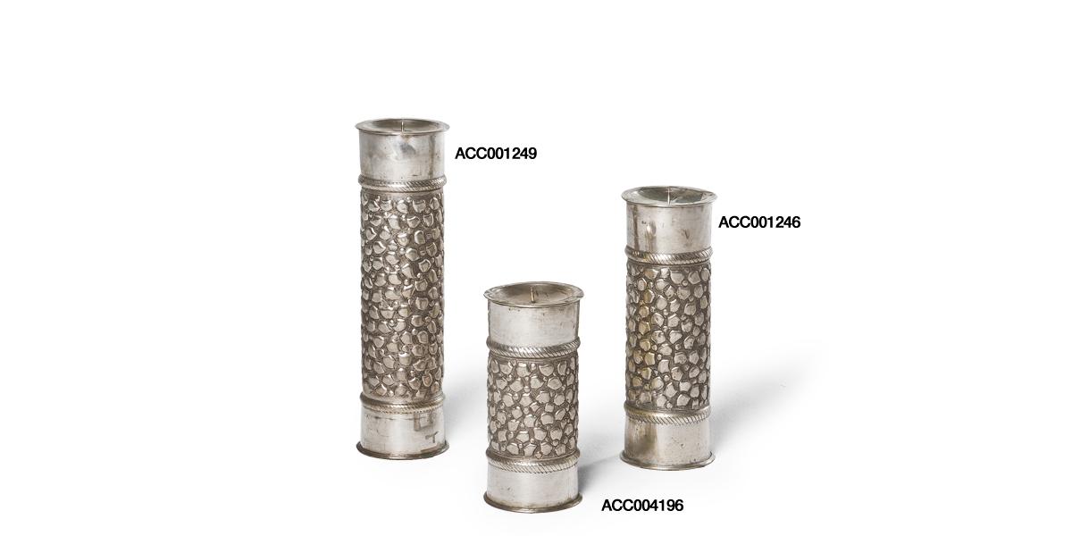 "8.5""h - 14.25""h Silver Candleholder Set"