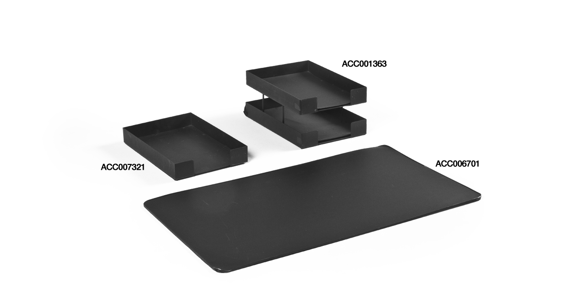 Black Desk Accessories Set