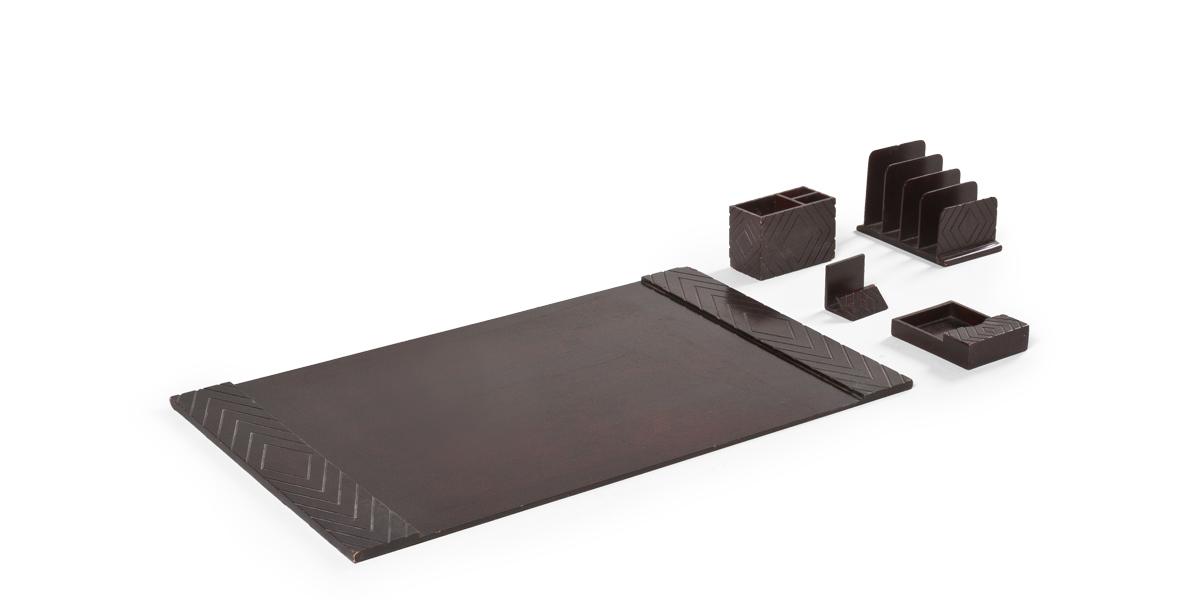 Diamond Mahogany Desk Accessory Set