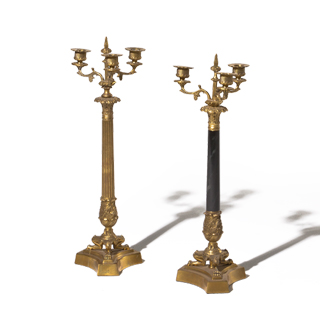 "21""h Brass Candelabra Set"