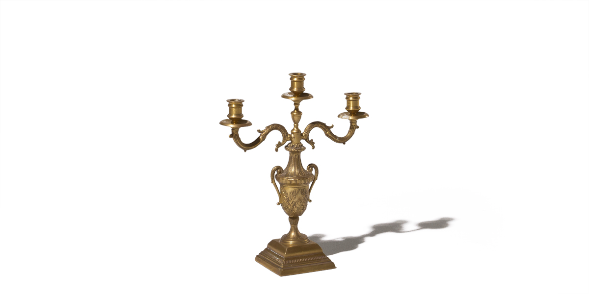 "16""h Antique Brass Candleholder ACC007749"