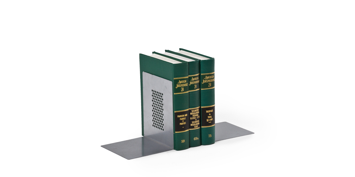 "8""h Aluminum Bookends ACC010343"