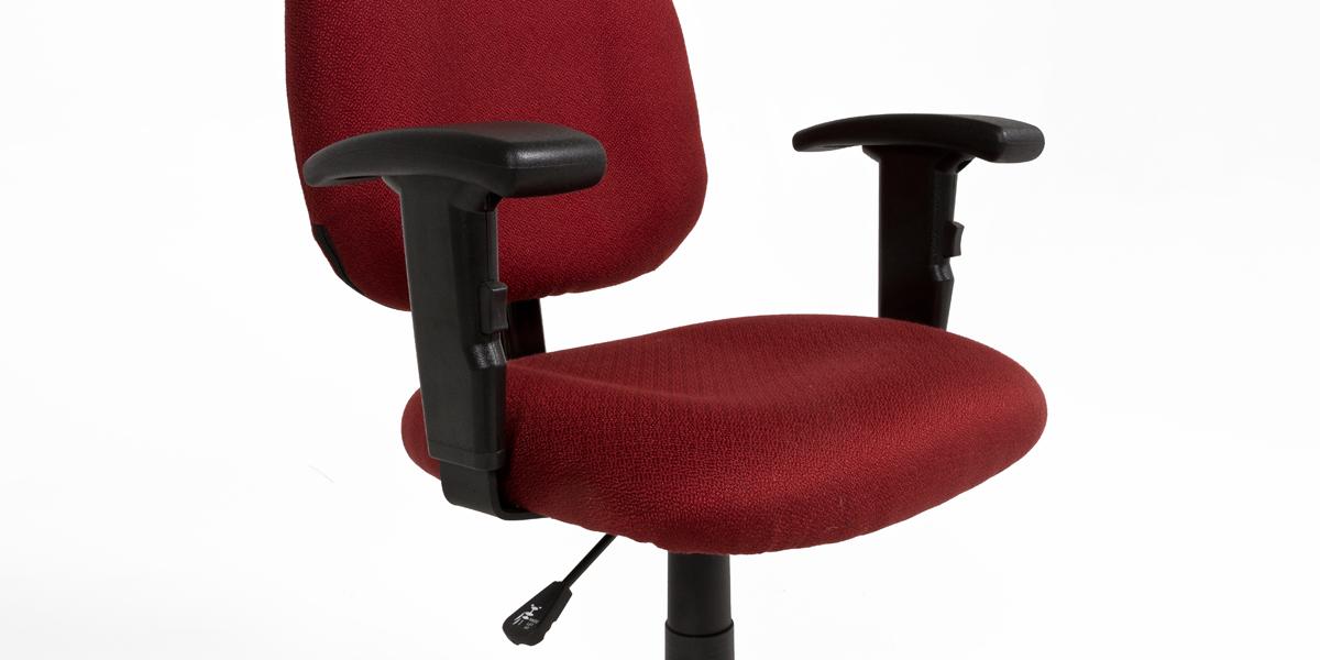 Burgundy Fabric Task Chair CHR013542