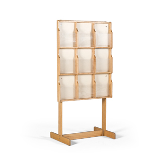"30""w x 59""h Light Oak Magazine Rack MIS010745"