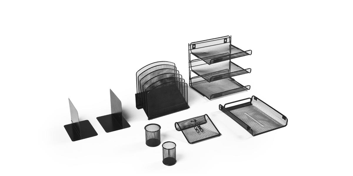 Black Wire Desk Accessories Set