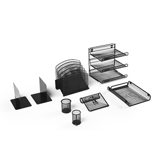 Black Wire Desk Accessories Set