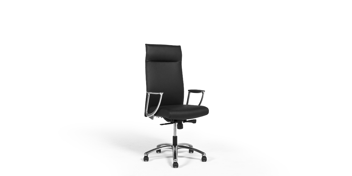 Black Leather Hi-Back Executive Chair CHR013560
