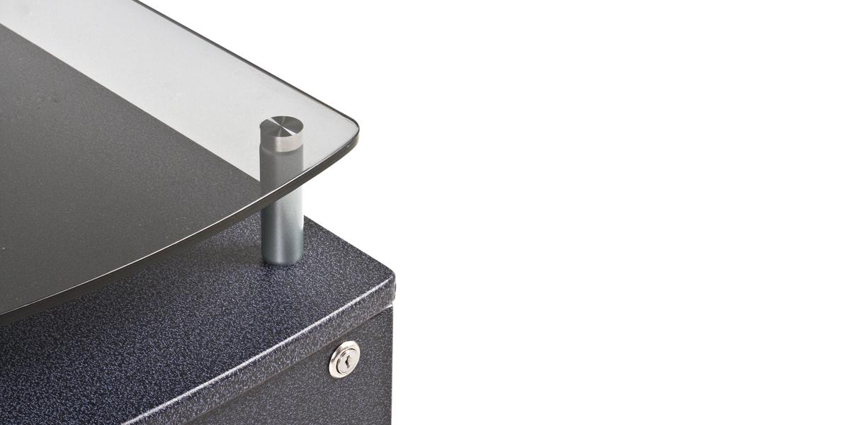 """15""""w x 17.75""""d Charcoal Grey Mobile Pedestal PED013559"""