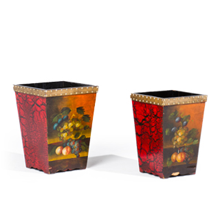 """13.5""""h - 14.5""""h Red Planters Set"""