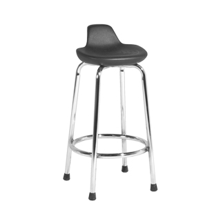 Black Chrome Modern Bar Stool CHR002606