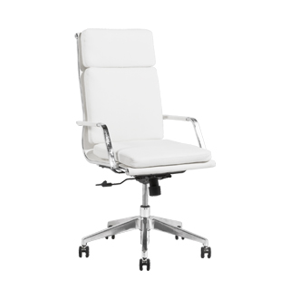White Leather Executive Hi-Back Conference Chair CHR013540