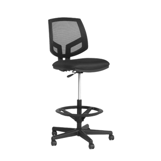 Black Mesh Drafting Chair CHR013617