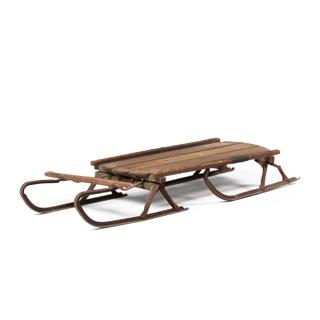 "43""w x 18""d Antique Wood Sled MIS004365"