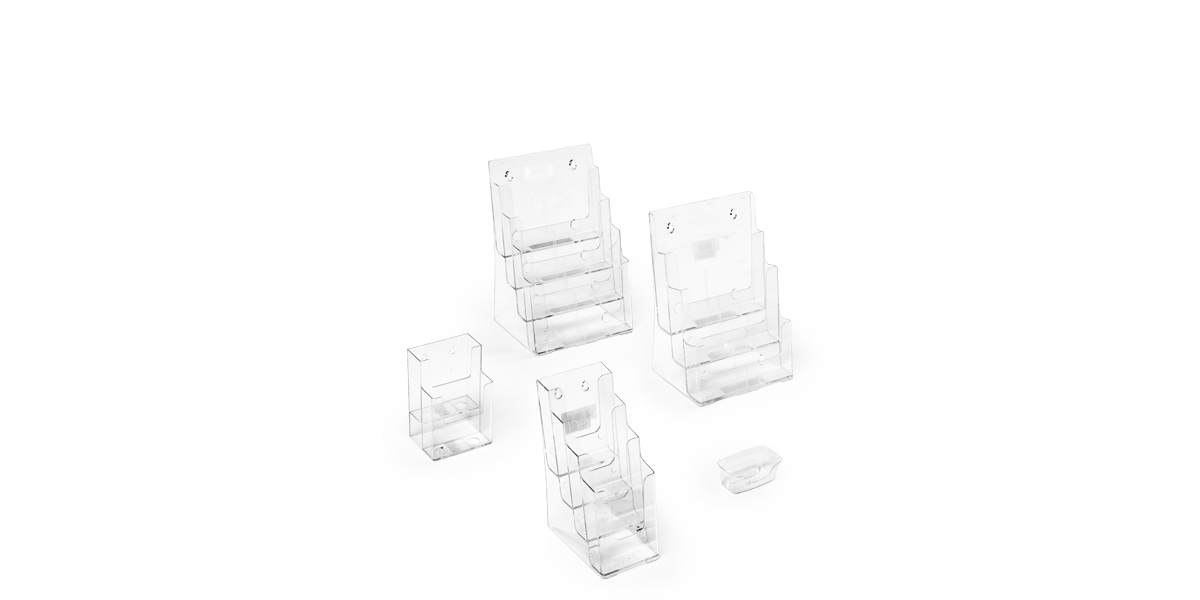 "2""h - 13.5""h Clear Plastic Desk Accessories Set"