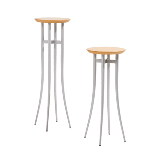 "28""h - 36""h Natural Pedestal Set"