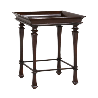 "22""w x 22""d Dark Walnut Side Table TBL013600"