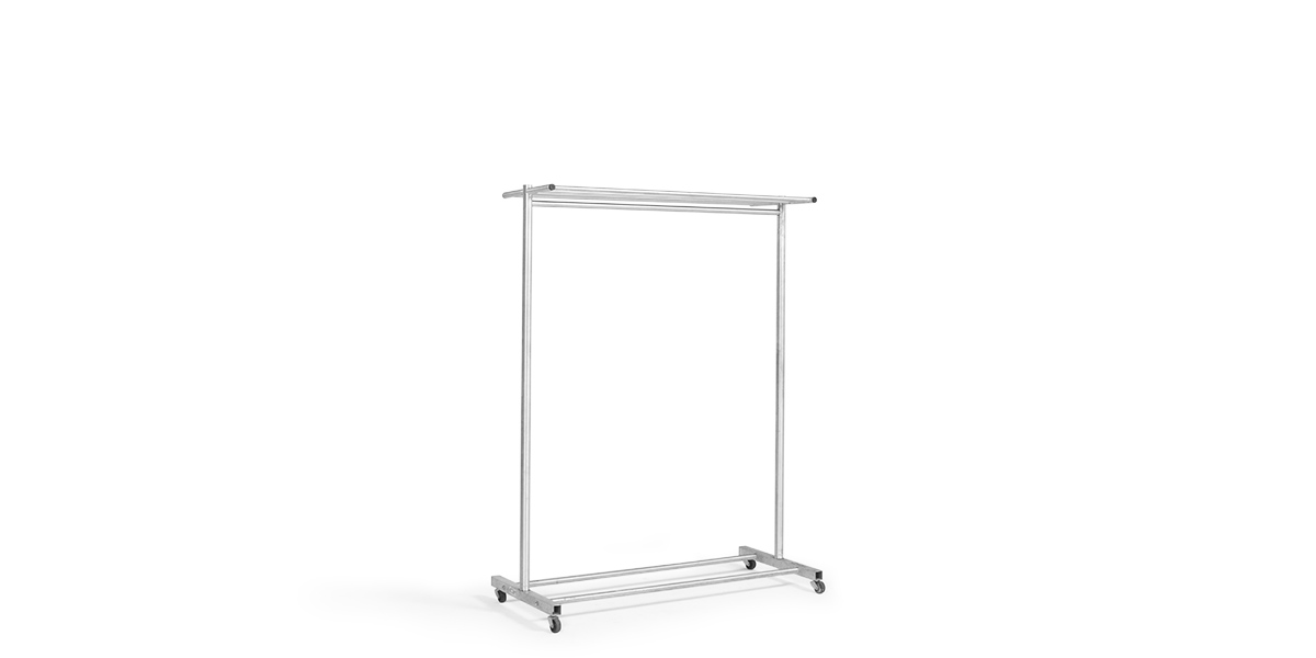 "48""w x 64.25""h Satin Aluminum Coat Rack MIS006289"