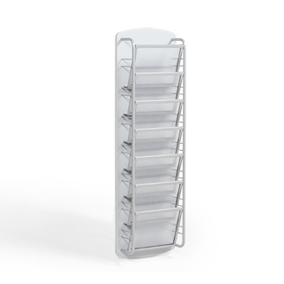 "9.5""w x 41""h Grey Literature Rack MIS013609"