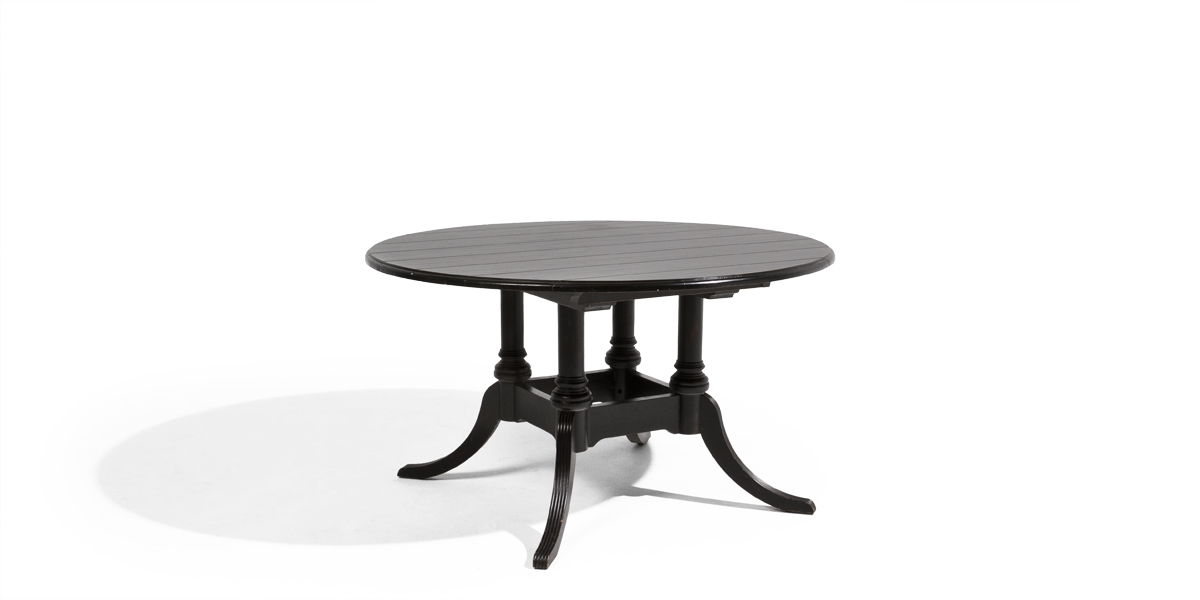 "53.5""dia Black Birdcage Round Dining Table TBL009287"