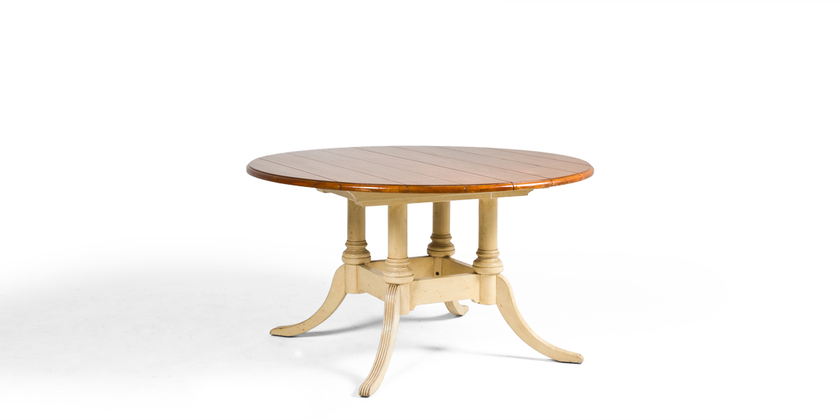 """53.5""""dia Distressed Pine Round Dining Table TBL009288"""