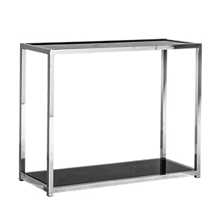 "36""w x 15""d Black Glass Console Table TBL013354"