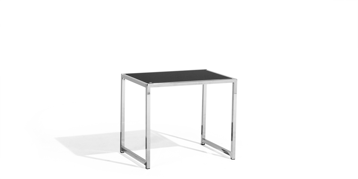 "22""w x 15.75""d Black Glass End Table Top TBL013355"
