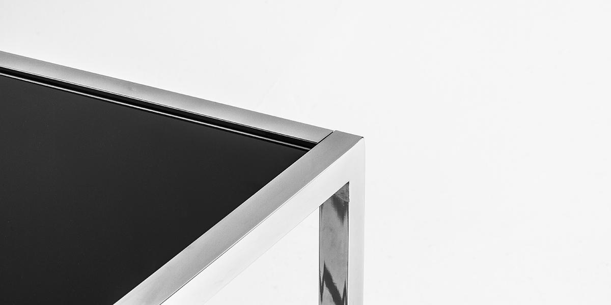 "44""w x 22""d Black Glass Top Coffee Table TBL013356"