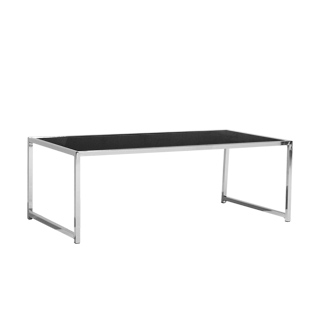"44""w x 22""d Black Glass Top Coffee Table TBL013356"