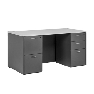 "60""w x 30""d Grey Desk DSK013639"
