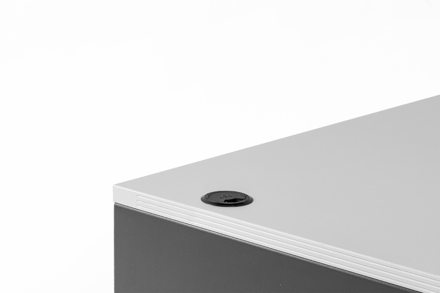 "60""w x 30""d Grey Desk DSK013639"