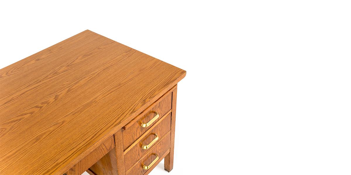 """42""""w x 30""""d Oak School Desk DSK000765"""
