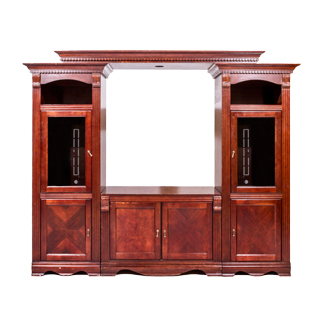 "90""w x 75""h Traditional Medium Cherry Bookcase BKC007533"