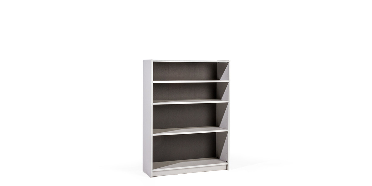 "36""w x 48""h Grey Laminate Bookcase BKC008544"