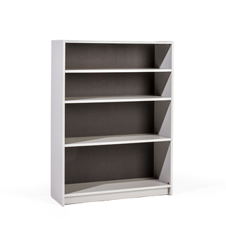 "26""w x 48""h Grey Laminate Bookcase BKC008544"